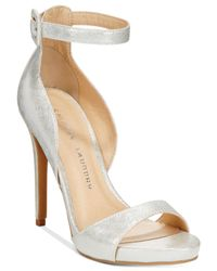 Chinese Laundry | Metallic Be Bold Two-piece Sandals | Lyst