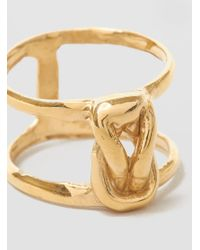 Odette New York - Metallic Stacked Lovers Knot Ring Brass - Lyst