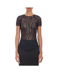 Nina Ricci - Blue Lace Top - Lyst