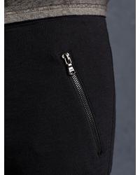 John Varvatos - Black Cotton Knit Biker Pant for Men - Lyst