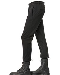 Just Cavalli - Black Viscose Jersey Trousers for Men - Lyst