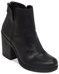 Lucky Brand | Black Women's Orsann Block Heel Booties | Lyst
