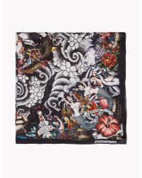 DSquared² | Black Tattoo Foulard for Men | Lyst