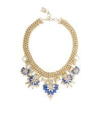 BCBGMAXAZRIA - Blue Floralstone Chain Necklace - Lyst