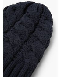 Mango - Blue Knit Beanie for Men - Lyst
