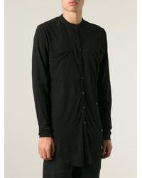 Lost & Found - Black Mandarin Collar Oversized Shirt for Men - Lyst
