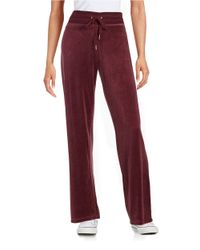 Calvin Klein | Red Velour Sweat Pants | Lyst