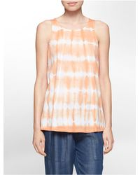 Calvin Klein | Orange White Label Tie Dye Seamed Tank Top | Lyst
