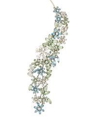 BCBGMAXAZRIA | Multicolor Stone Floral Necklace | Lyst