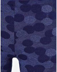 ASOS   Blue Leggings in Denim Spot Effect   Lyst
