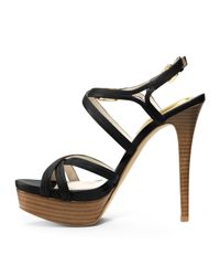 Michael Kors - Black Michael Cicely Platform Sandal - Lyst