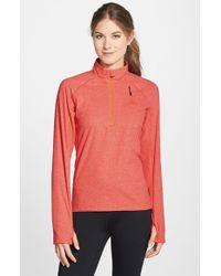 Adidas - Orange 'reachout' Half Zip Hiking Top - Lyst