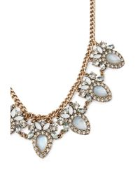 Forever 21 | Blue Faux Gem Statement Necklace | Lyst