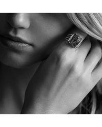 David Yurman | Metallic Wheaton Ring With Diamonds | Lyst