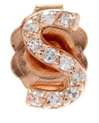 KC Designs | Pink Rose Gold Diamond S Single Stud Earring | Lyst
