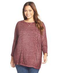 Lucky Brand - Purple Long Sleeve Top - Lyst