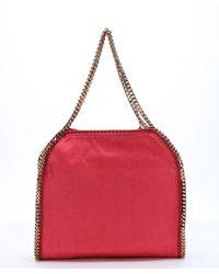 Stella McCartney - Pink Fuchsia Canvas 'falabella' Chain Link Shoulder Bag - Lyst