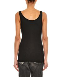 James Perse - Black Ribbed Tank Top - Lyst