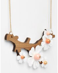 Tatty Devine - Multicolor Cherry Blossom Necklace - Lyst