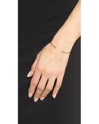 Shashi - Pink Rhyan Cuff Bracelet - Clear/rose Gold - Lyst