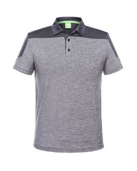 BOSS Green | Blue 'pavotech' | Slim Fit, Tech Jersey Colorblock Polo for Men | Lyst