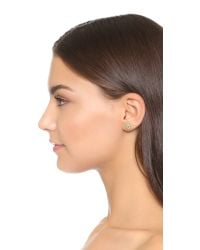 Holly Dyment - Mini Evil Eye Stud Earring - Green - Lyst