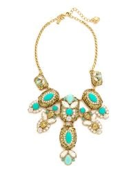 kate spade new york | Metallic Showgirl Gems Necklace - Gold Multi | Lyst