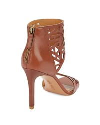 Nine West | Brown Karabee Stiletto Leather Sandals | Lyst