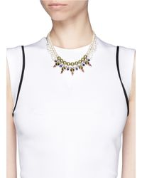 Joomi Lim - Metallic Crystal Pearl Double Strand Necklace - Lyst