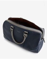 Ted Baker | Blue Contrast Handle Holdall Bag for Men | Lyst