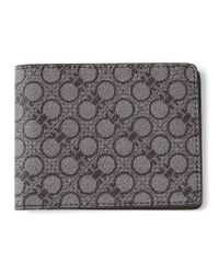 Ferragamo - Gray Gancini Print Billfold Wallet for Men - Lyst