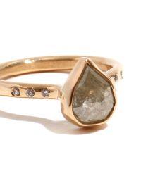 Melissa Joy Manning   Metallic Pale Green And Clear Diamond Ring   Lyst