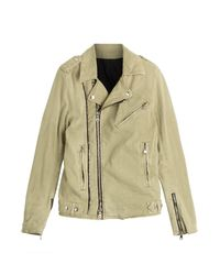 Balmain | Natural Cotton Biker Jacket - Beige for Men | Lyst