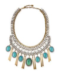 DANNIJO | Blue Costella Turquoise Statement Necklace | Lyst