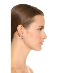 Rebecca Minkoff - White Front To Back Earrings - Pearl/black - Lyst