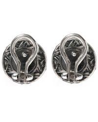 Stephen Dweck - Black Silver Moonstone Flower Stud Earrings - Lyst