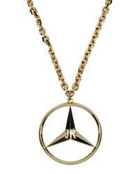 John Richmond - Metallic Necklace - Lyst