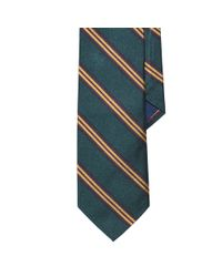 Polo Ralph Lauren - Green Striped Silk Repp Tie for Men - Lyst