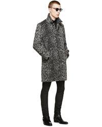 86034ed45d2 Saint Laurent Belted Leather Trench Coat in Black for Men - Lyst