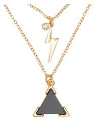H&M - Metallic 2-Pack Necklaces - Lyst