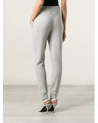 T By Alexander Wang | Gray French Terry Track Pants | Lyst