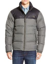 The North Face - Gray 'nuptse' Packable Quilted Goose Down Jacket, Green for Men - Lyst