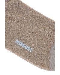 Missoni - Metallic Lurex Socks - Lyst