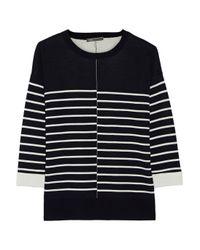 Vince - Blue Striped Stretch-knit Sweater - Lyst