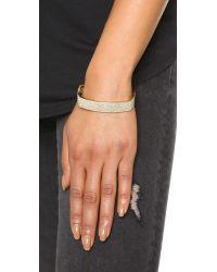 Michael Kors - Metallic Pave Hinge Cuff Bracelet - Lyst