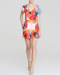 Trina Turk - Red Florencia Floral Romper - Lyst