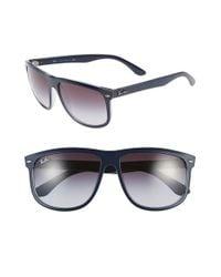 Ray-Ban | Blue 'boyfriend Flat Top Frame' 60mm Sunglasses | Lyst