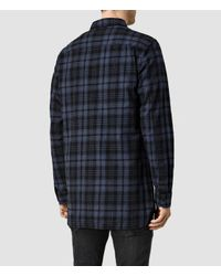 AllSaints - Blue Randstadt Shirt for Men - Lyst
