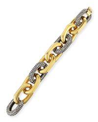 Lele Sadoughi - Metallic Pave Crystal Link Bracelet - Lyst