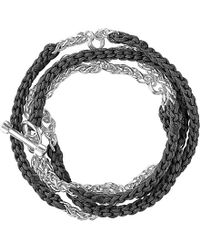 Links of London - Black Woven Wrap Charm Bracelet - Lyst